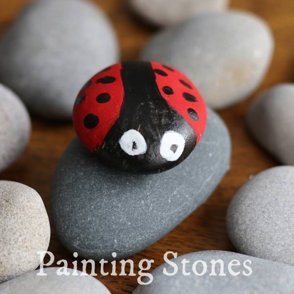 Painting stones - basic instructions.