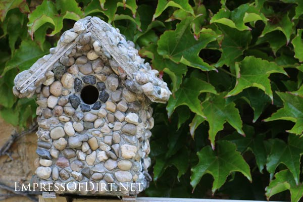 How To Make A Stone Birdhouse Empress Of Dirt