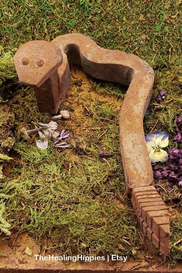 Garden junk snake.