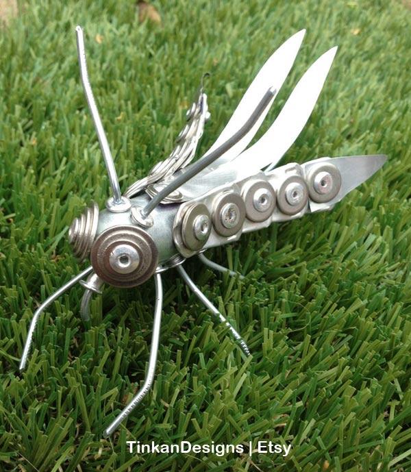 Garden junk grasshopper.