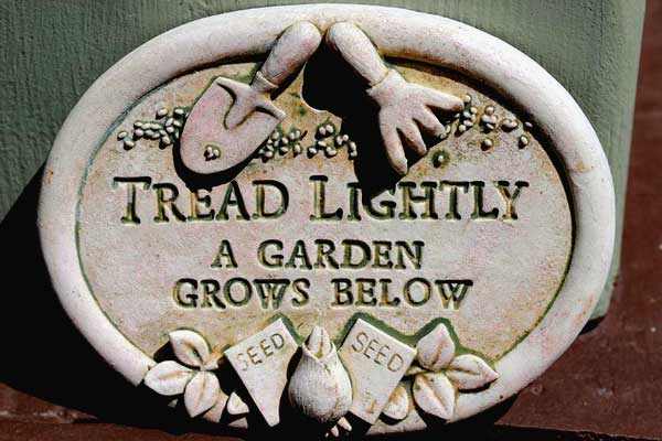Tread lightly: a garden grows below.