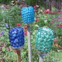 Luminaries made from food jars.