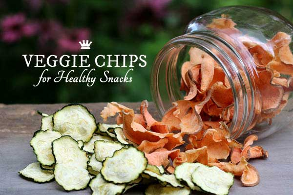 You can make crispy, delicious, healthy veggie chips from all sorts of vegetables. Favourites include sweet potatoes, beets, zucchini, green beans, kale, and more. If you want a healthy alternative to potato chips, give these a try!