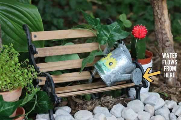Make a working miniature fairy garden fountain.