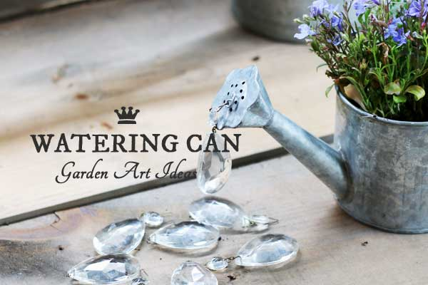 Watering can garden art ideas