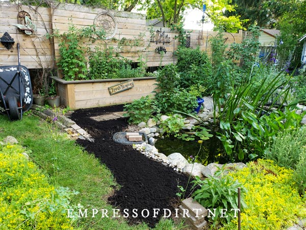Garden prepared with top soil ready for sowing seeds.