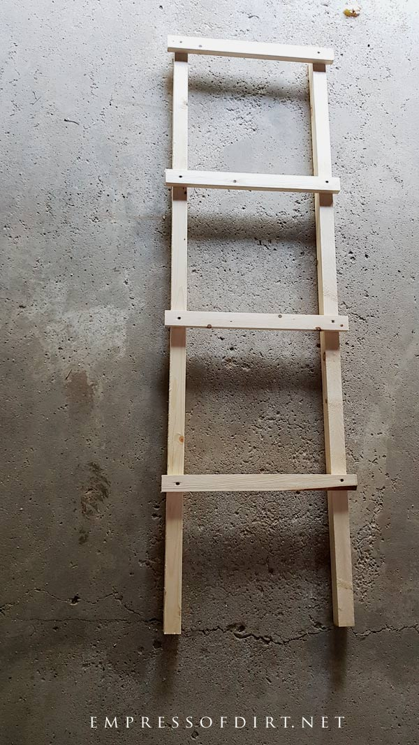 Main rail for building a wood tomato cage.