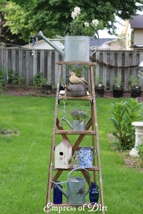 Old Wood Ladders Are Wonderful In The Garden. Have A Look At These Ideas For