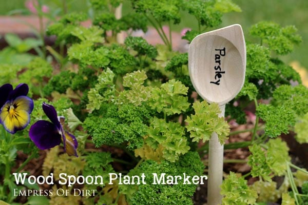 Wooden Spoon Plant Marker