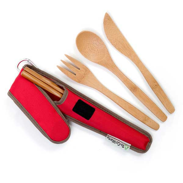 Portable bamboo cutlery kit available at EarthHero.