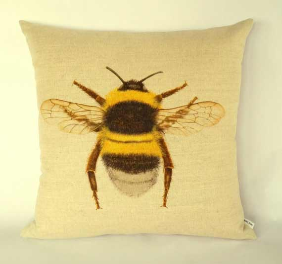 Bumble bee pillow cushion cover | JaredDesigns Etsy Shop