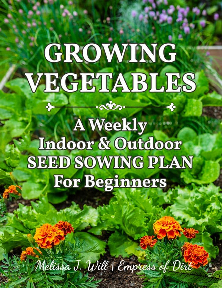 Book cover: Growing Vegetables: A Weekly Indoor and Outdoor Seed Sowing Plan by Melissa J. Will