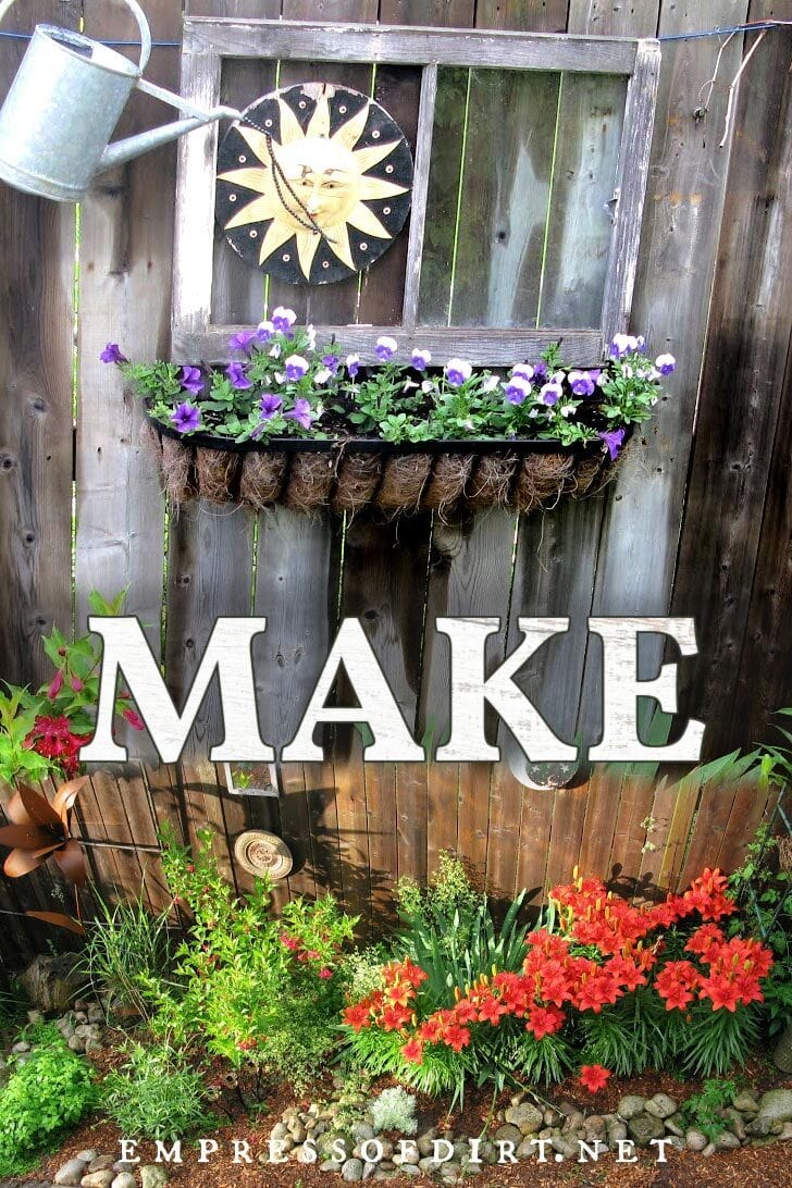 Make creative garden art ideas