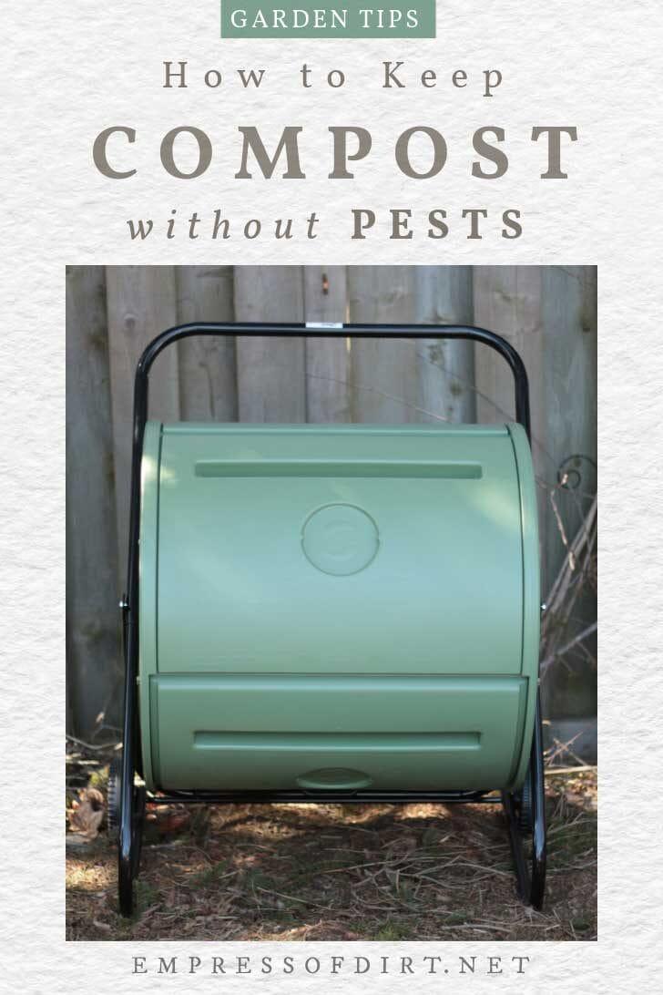 Mantis tumbler composter.