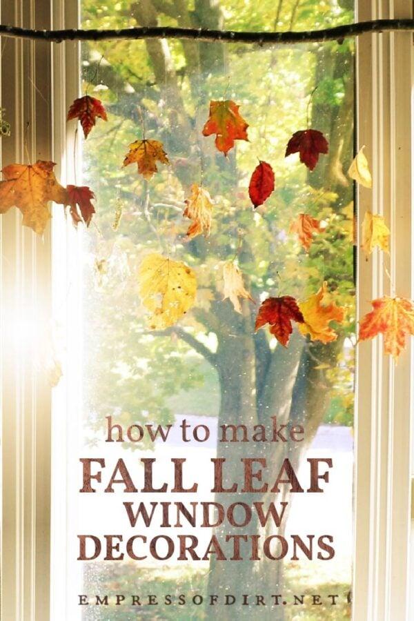 Fall leaf craft decor.