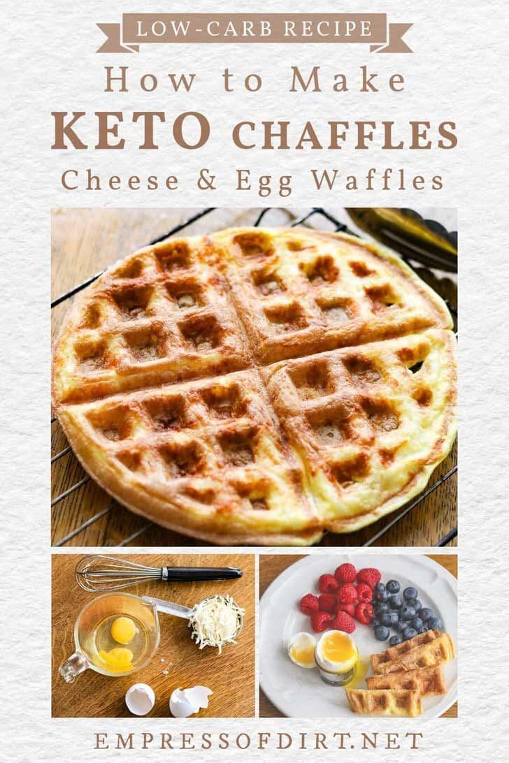 "Cheese and egg keto waffle ""chaffle""."