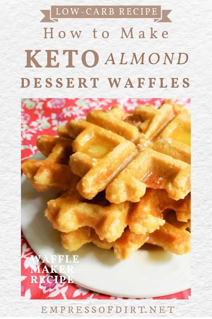 Low-carb keto dessert waffles.