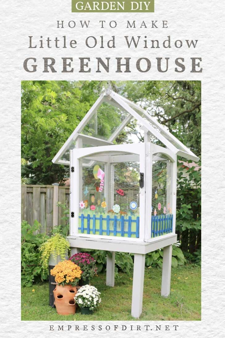 Little greenhouse made from old house windows.