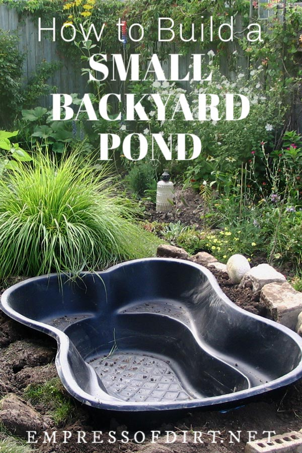 How to Start a Pond in Your Backyard | Empress of Dirt on Small Backyard Pond id=59821