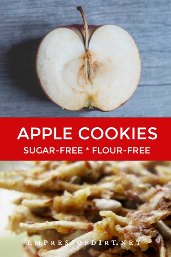 Unsweetened cookies made from apples, nuts, and seeds.