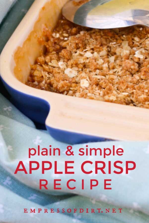 How to Make Apple Crisp With Rolled Oats (Recipe)
