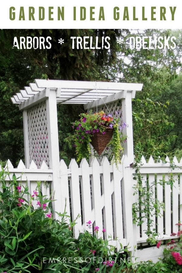 Arbor, trellis, and obelisk ideas for your home garden.