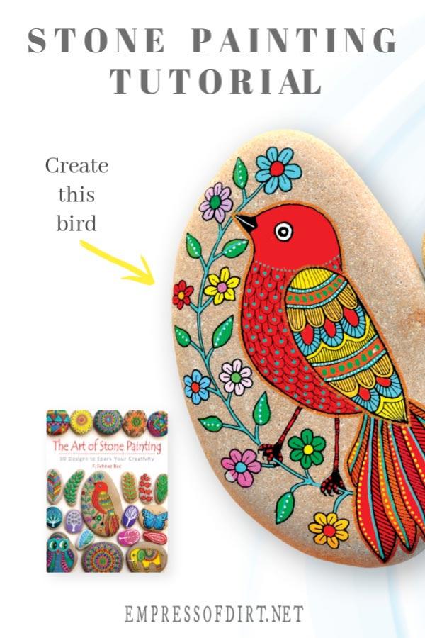 The Art of Stone Painting (Bird Tutorial)