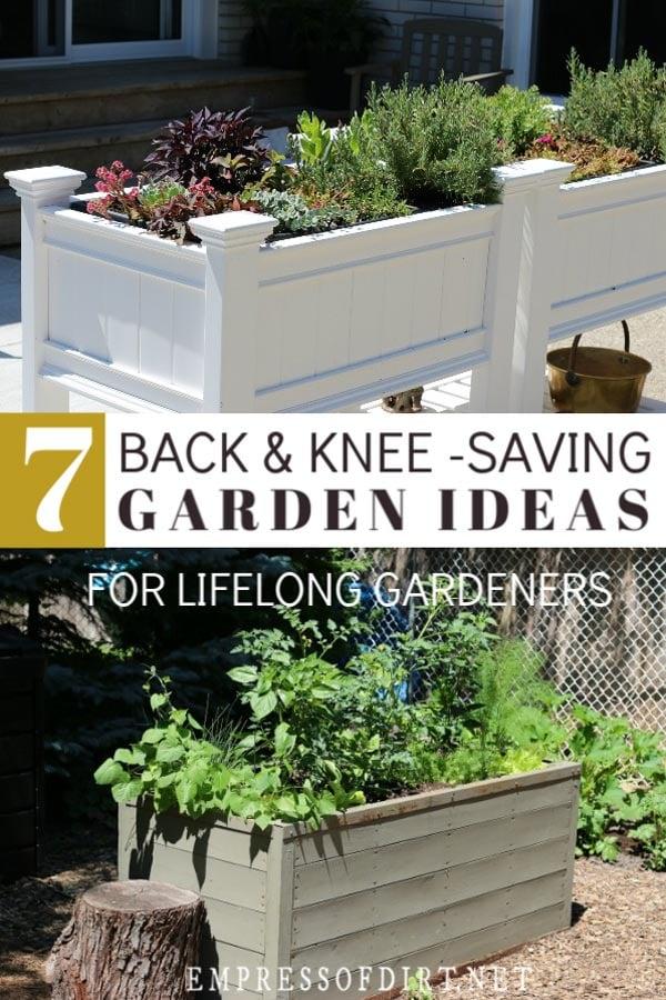 Easy to reach garden beds.