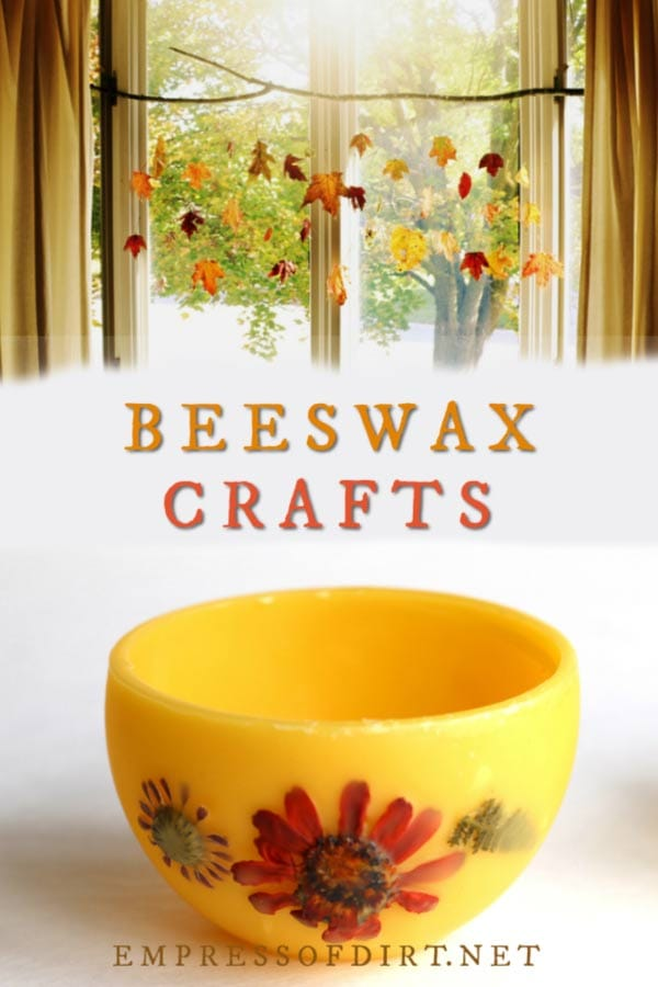 Creative crafts and practical uses for beeswax in the home.