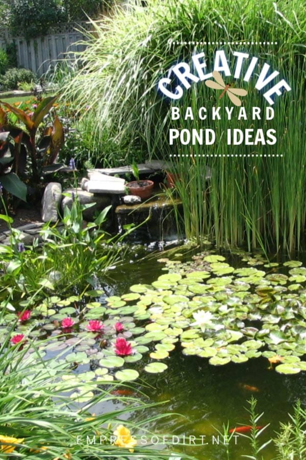 Creative backyard pond ideas for all sizes and budgets.