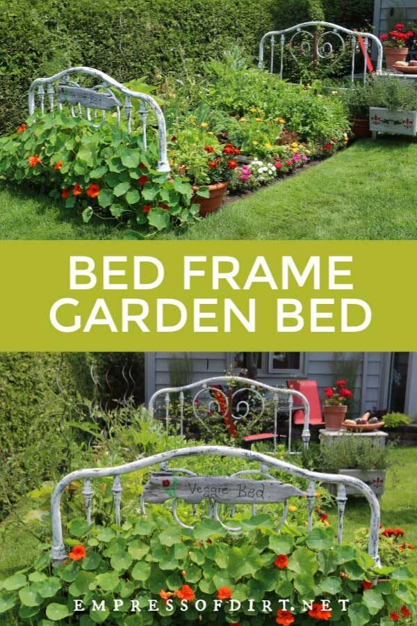 Turn a Real Bed Frame Into a Garden Bed
