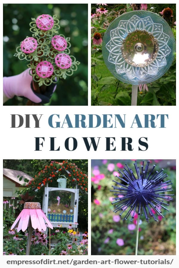 7 DIY Garden Art Flower Tutorials