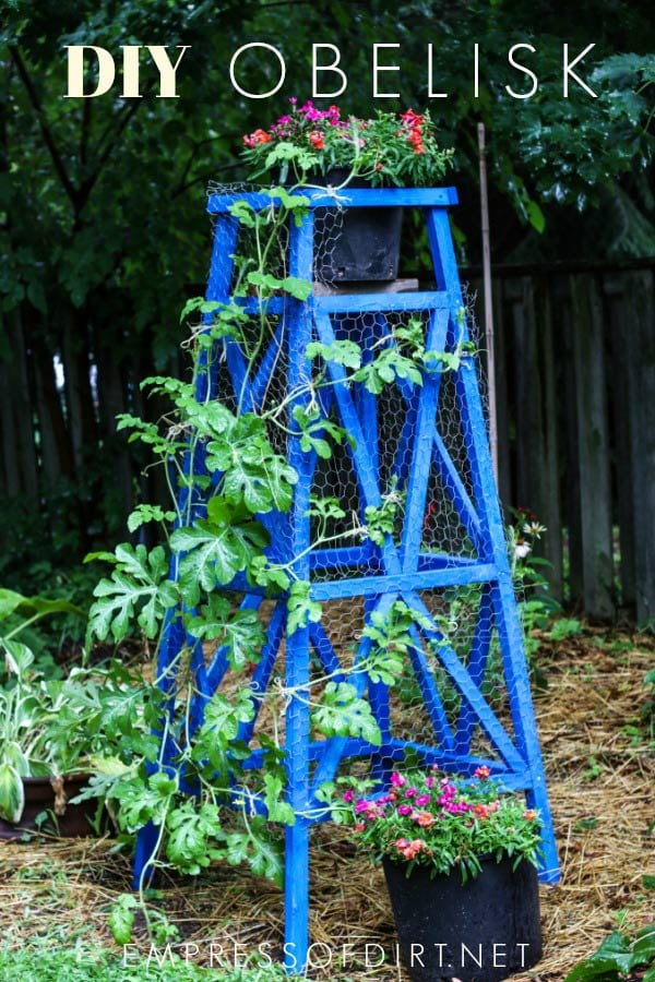 Make a wood garden obelisk for your garden with this tutorial.