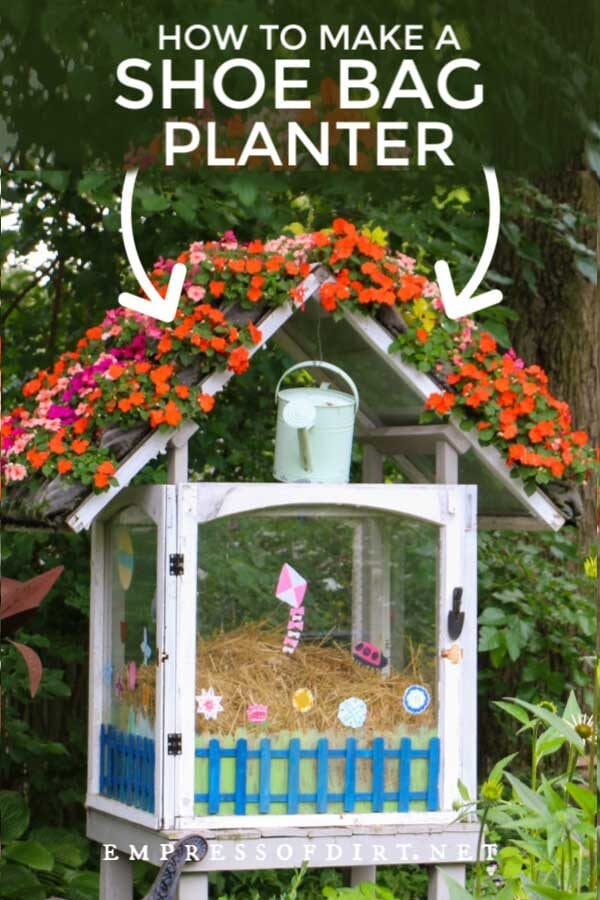 Turn a Shoe Organizer Into a Flower Planter