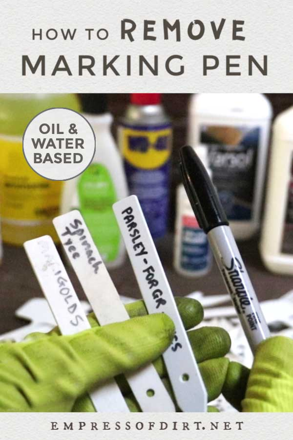 How to remove permanent marker and reuse plastic plant tags
