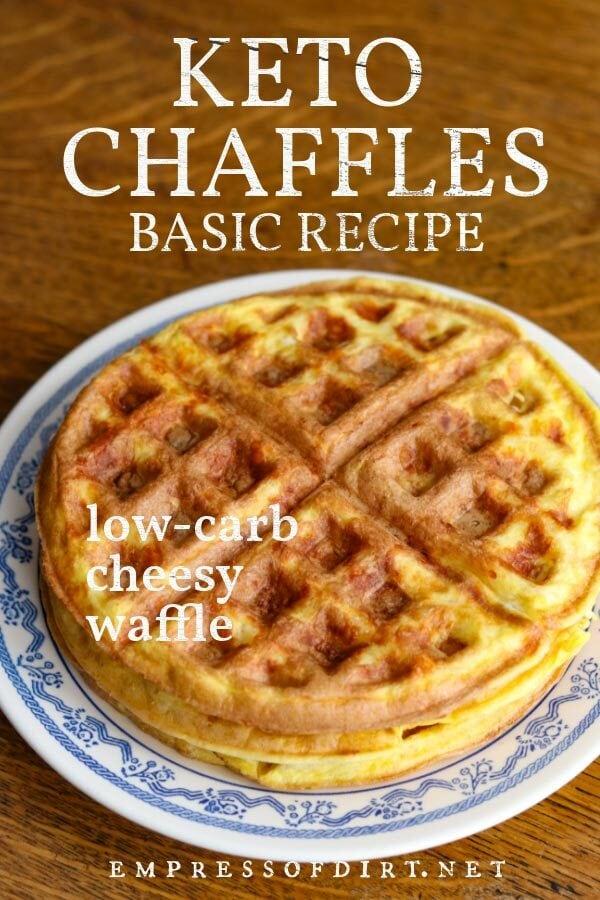 Basic keto chaffle: a low-carb cheesy waffle.