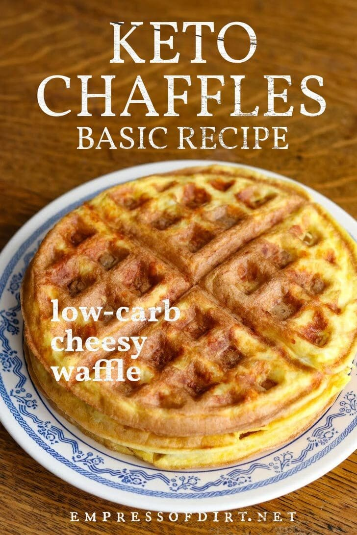 "Low-carb cheesy waffle (""chaffle"")."