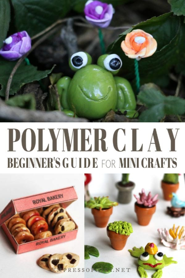 Polymer clay beginner's guide for mini crafts.