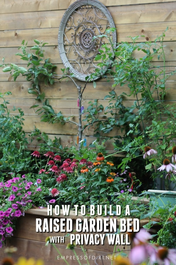 DIY Raised Garden Bed with Built-in Privacy Wall