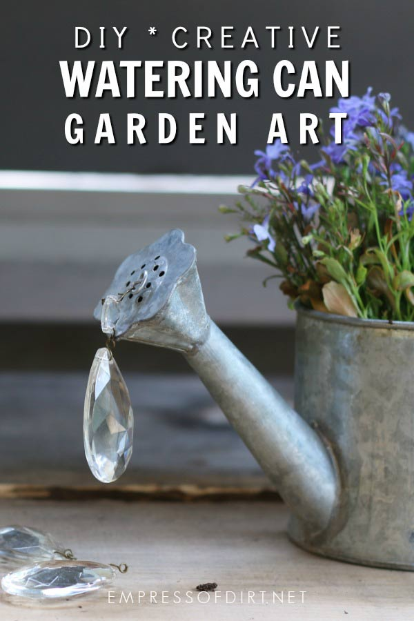 Spilling Watering Can Garden Art Tutorial