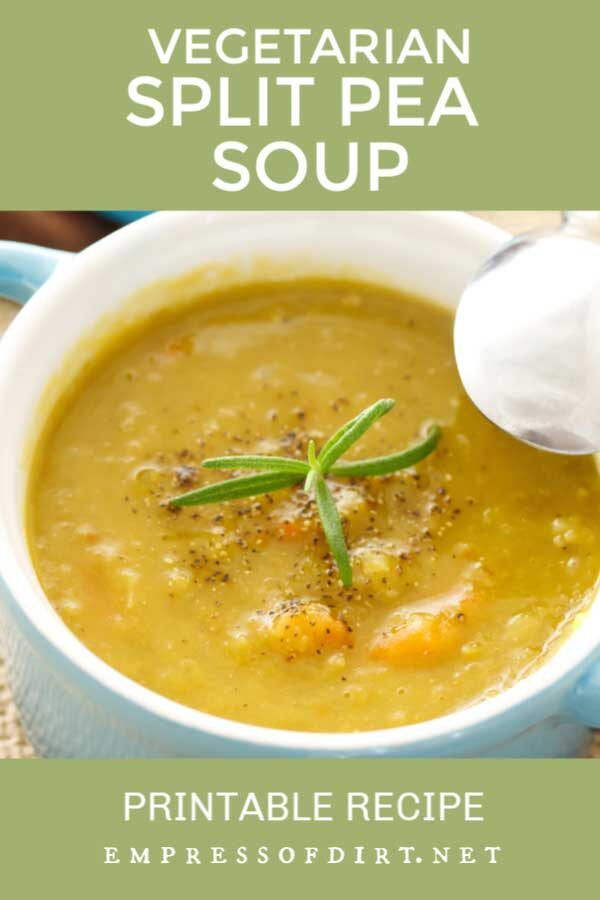Meg's Vegetarian Split Pea Soup Recipe