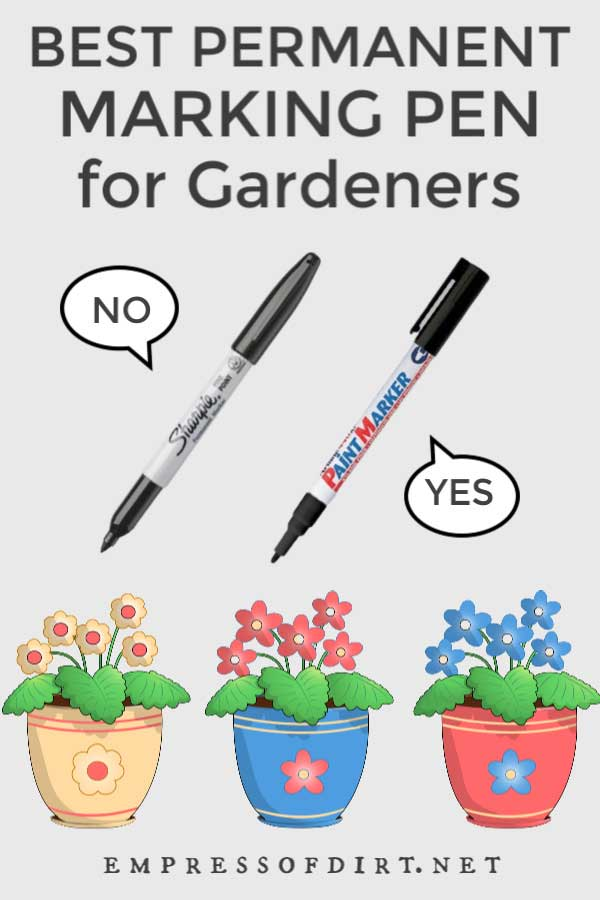 Marking pens for gardeners.