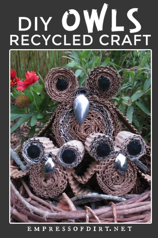 Earth-Wise Owls Recycled Craft Project