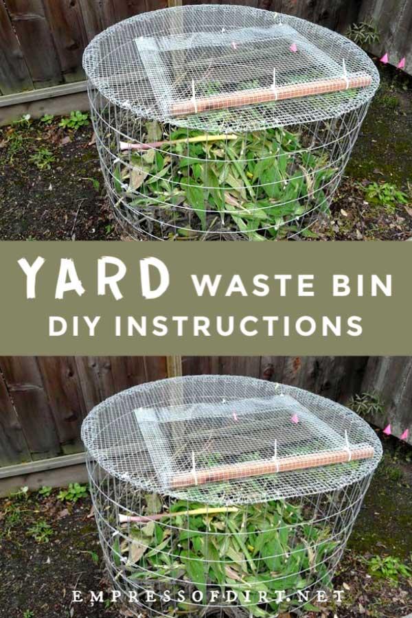 Yard waste bin.