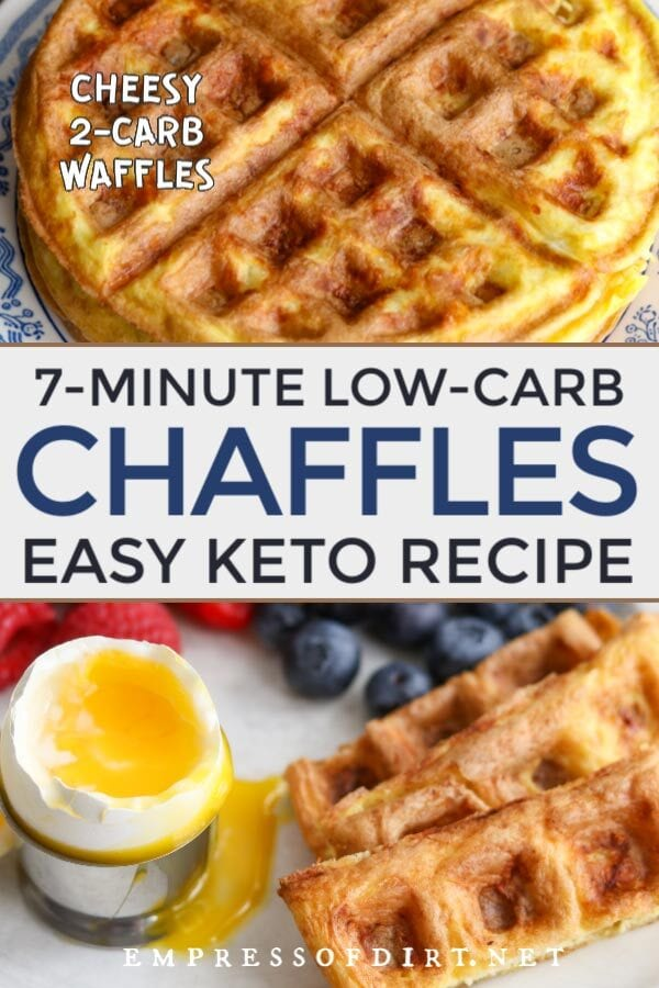 Chaffles: low-carb keto cheesy waffle.