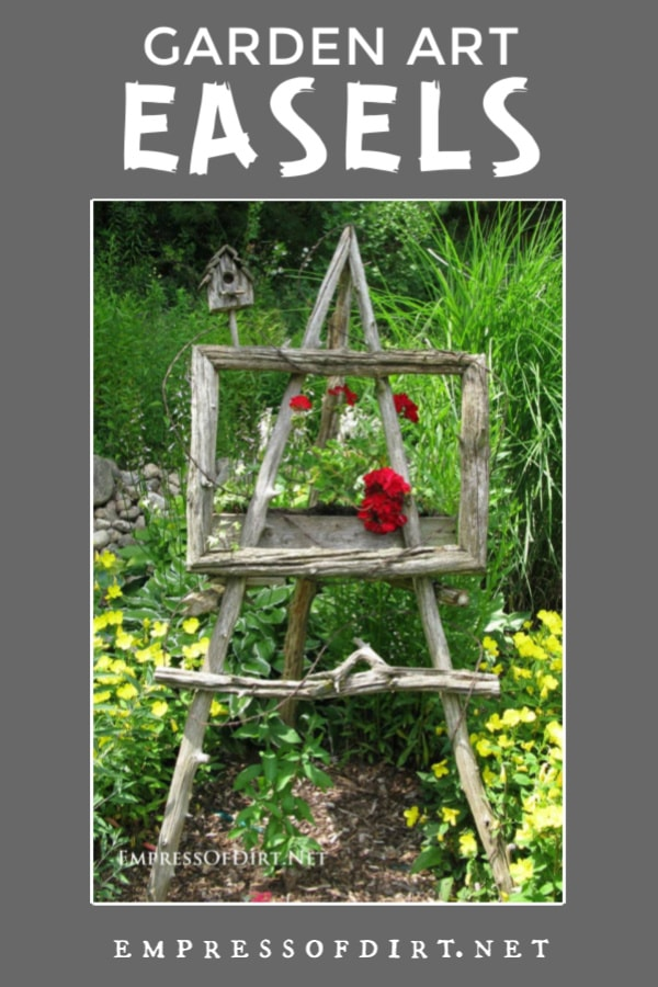 Garden art easel