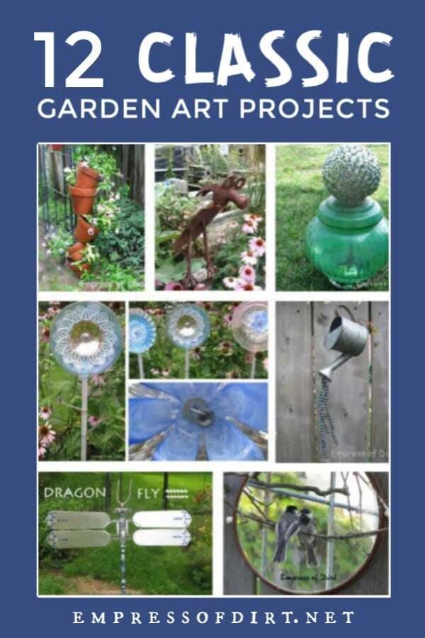 12 Creative & Frugal Garden Art Project Tutorials