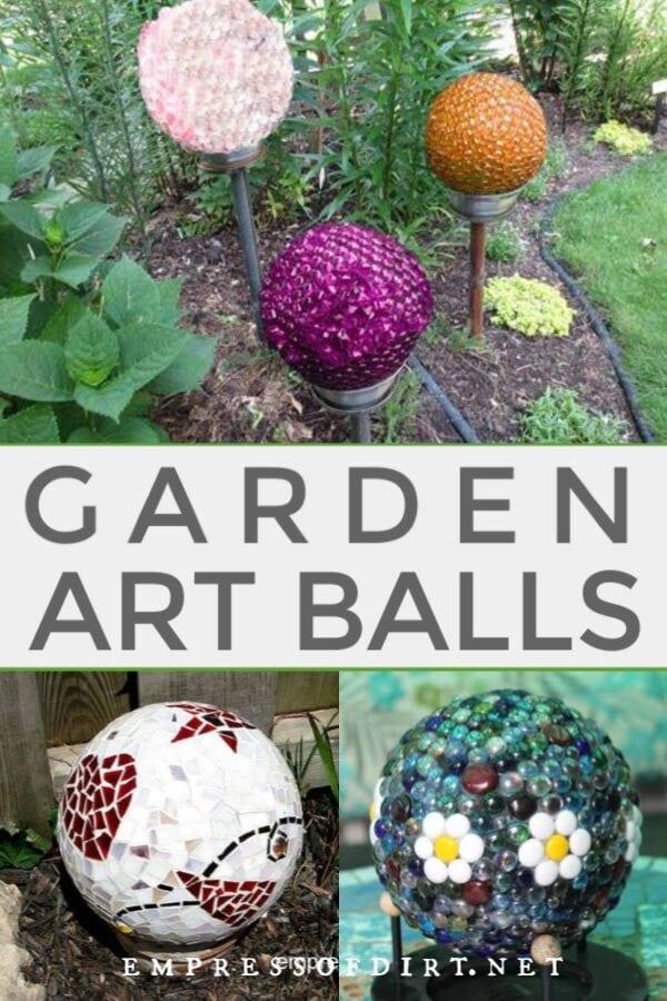 Garden Art Ball Idea Gallery