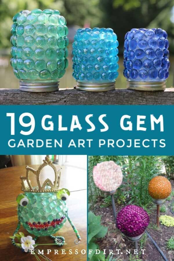 19 Glass Gem Garden Art Craft Projects