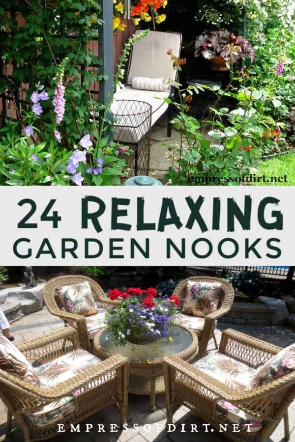 24 Relaxing Garden Nooks (Seating Ideas)